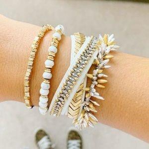 EUC Stella & Dot Double wrap bracelet